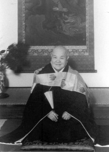 A formal photographic portrait of Koho Zenji