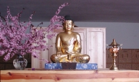 Shasta Abbey meditation hall altar