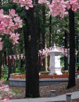Reverend Master Jiyu-Kennett's stupa at Wesak, Shasta Abbey