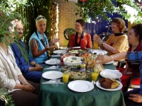 Sangha meal at Dharmatoevlucht, Netherlands