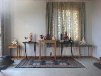 Rochdale meditation hall altars