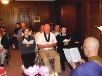 A ceremony at Columbia Zen Priory