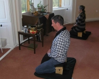 Meditation at the Newcastle & Teesside groups' retreat